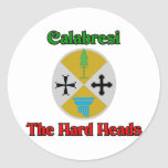 Calabresi las cabezas duras etiquetas redondas