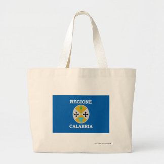 Calabria flag tote bags
