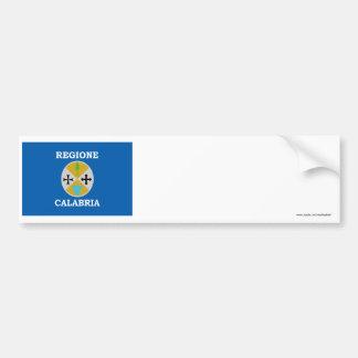 Calabria flag car bumper sticker