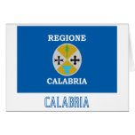 Calabria flag with name greeting card
