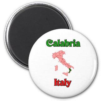 Calabria Italia Imán Redondo 5 Cm