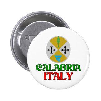 Calabria Italia Pin Redondo De 2 Pulgadas