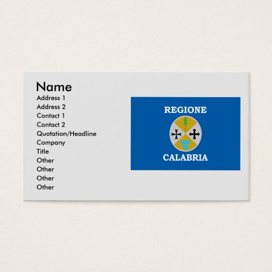 Calabria, Italy Business Card