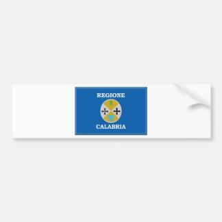 Calabria (Italy) Flag Car Bumper Sticker