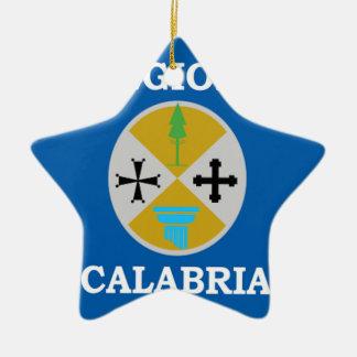 Calabria (Italy) Flag Ceramic Ornament