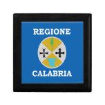 Calabria (Italy) Flag Keepsake Boxes