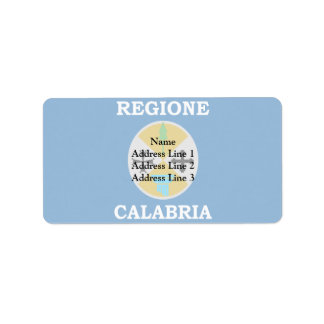 Calabria, Italy flag Personalized Address Label