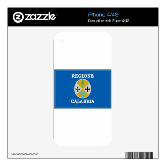 Calabria (Italy) Flag Skin For iPhone 4