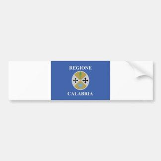 calabria regione region flag italy county magnets car bumper sticker