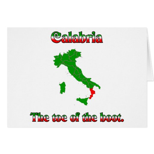 Calabria The Toe Of The Boot Card