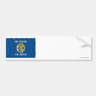Calabria waving flag car bumper sticker