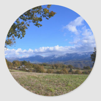 Calabrian Countryside Classic Round Sticker