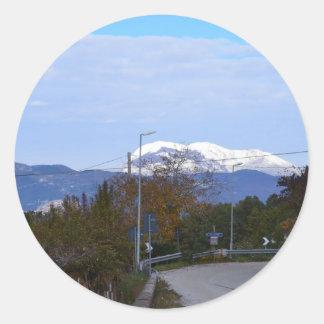 Calabrian Mountain Classic Round Sticker