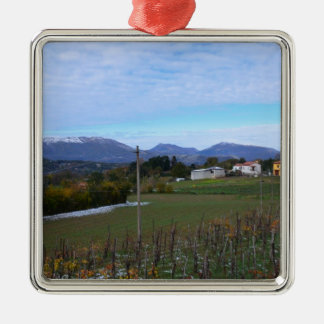 Calabrian Vineyard Metal Ornament