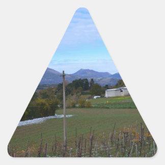 Calabrian Vineyard Triangle Sticker