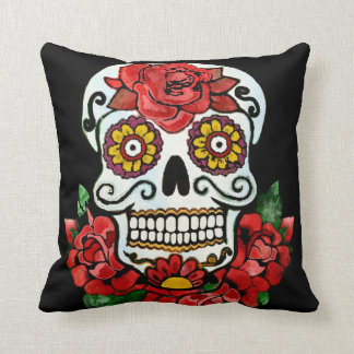 Calaca, Day of the dead Throw Pillow