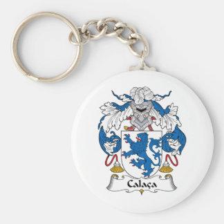 Calaca Family Crest Basic Round Button Keychain