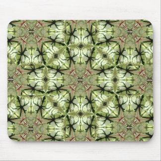 Caladium Leaf Abstract Pattern Mousepad