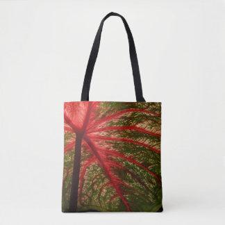Caladium Leaf Tote Bag