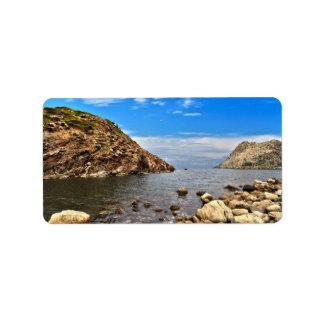 Calafico bay - San Pietro island Label