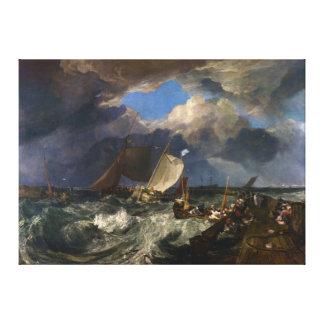 Calais Pier by Joseph Mallord William Turner Canvas Print
