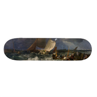 Calais Pier by Joseph Mallord William Turner Skate Boards