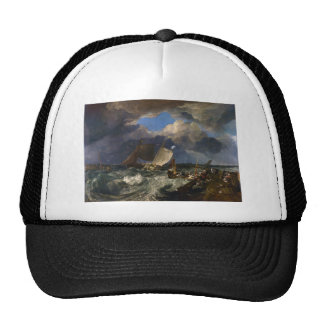 Calais Pier by Joseph Mallord William Turner Trucker Hat