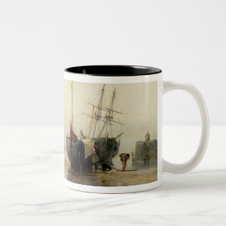 Calais Pier, c.1823-24 (oil on panel) Two-Tone Coffee Mug