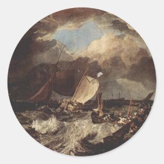 Calais Pier Classic Round Sticker