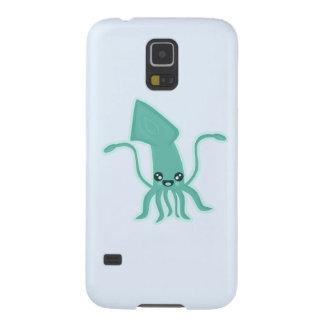 Calamar de Kawaii Carcasas Para Galaxy S5