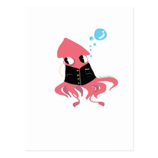 Calamar de lujo postal