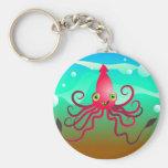 Calamar feliz llaveros personalizados