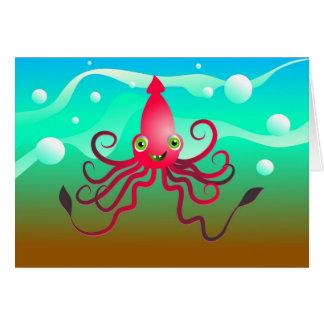 Calamar feliz tarjeton