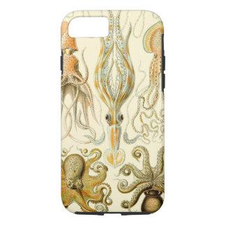 Calamar Gamochonia del pulpo del vintage de Ernst Funda iPhone 7