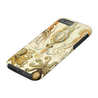 Calamar Gamochonia del pulpo del vintage de Ernst Funda Para iPhone 6 Tough