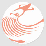 Calamar gigante pegatinas redondas