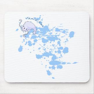 Calamar-kun s Mousepads manchado de tinta Alfombrillas De Ratón
