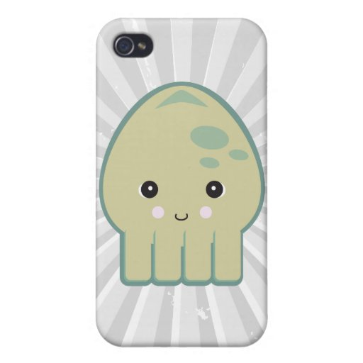 calamar lindo del kawaii iPhone 4/4S funda
