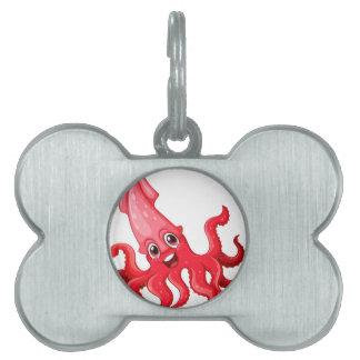 Calamar Placa De Nombre De Mascota
