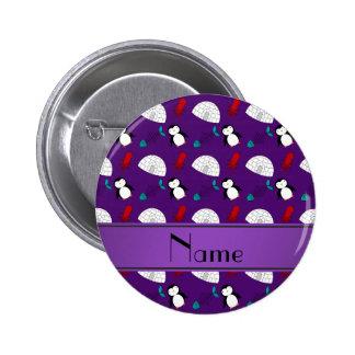 Calamar púrpura conocido personalizado de los pin redondo de 2 pulgadas