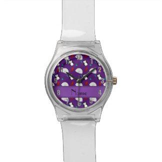 Calamar púrpura conocido personalizado de los relojes de pulsera