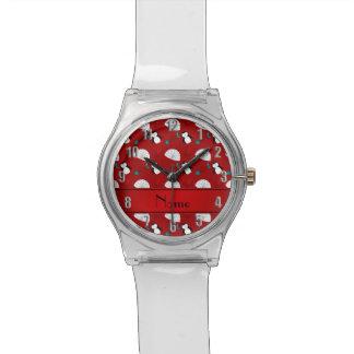Calamar rojo conocido personalizado de los relojes de pulsera
