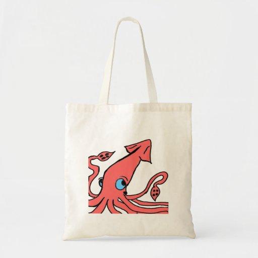 Calamar rosado gigante bolsa tela barata