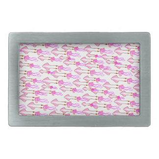 Calamar rosado tonto hebilla cinturón rectangular