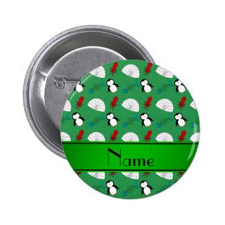 Calamar verde conocido personalizado de los pin redondo de 2 pulgadas
