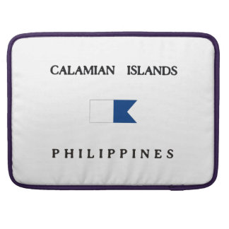 Calamian Islands Philippines Alpha Dive Flag MacBook Pro Sleeve