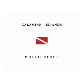 Calamian Islands Philippines Scuba Dive Flag Postcard