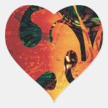 Calamidad del infierno del fractal pegatinas de corazon