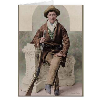 """Calamity Jane"" 1895 Tarjeta De Felicitación"