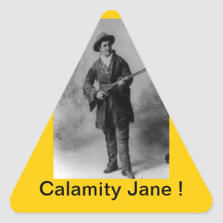 Calamity Jane Portrait Triangle Sticker